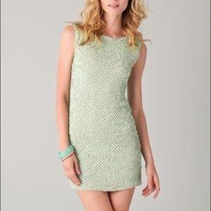 Alice + Olivia Green Sequin Mini Dress Sz 4